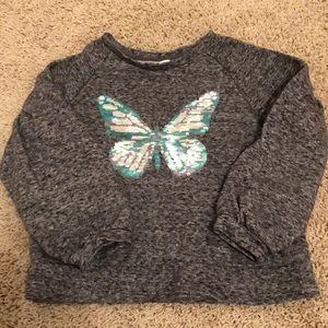 Girls butterfly sweatshirt